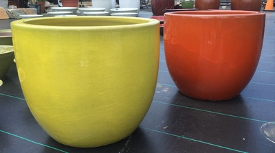 Glazed Pots Colorful Planters Urns Outdoor Decor Gardening Garden Pottery Plant Containers